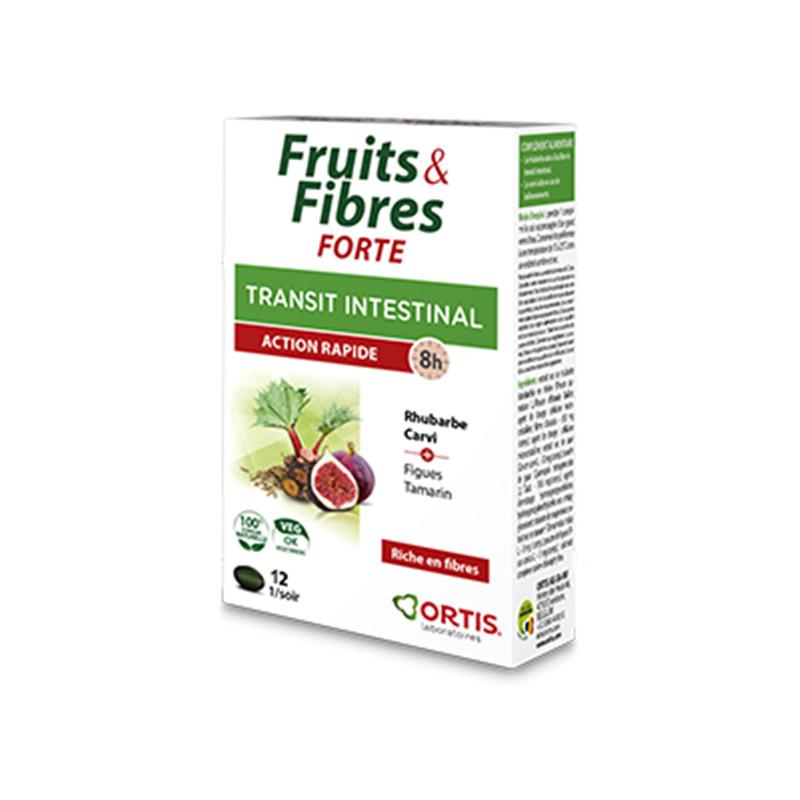 Fruits & fibres forte - 12 comprimés - ORTIS