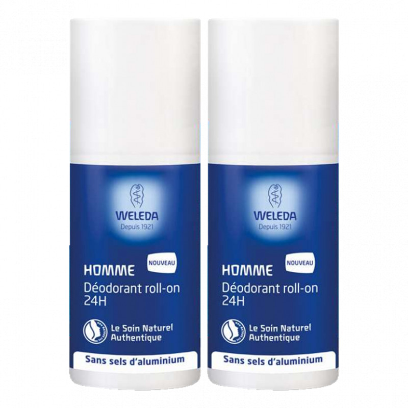 Déodorant Homme Roll-on 24h DUO - 2 x 50 ml - WELEDA