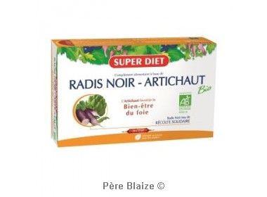 Radis noir - artichaut BIO - 20 ampoules x 15 ml - LABORATOIRES SUPERDIET