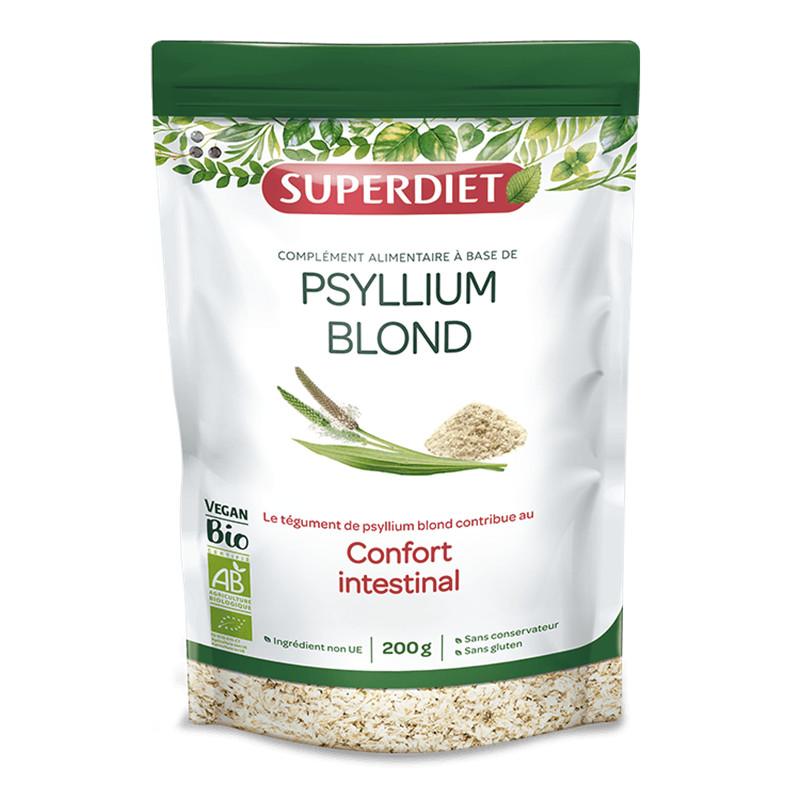 Psyllium Blond BIO - 200 g - LABORATOIRES SUPERDIET