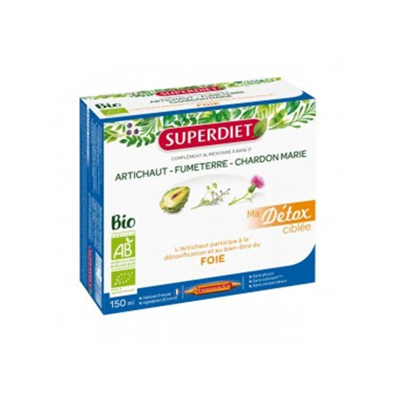 Ma Détox Ciblée Artichaut Foie Bio - 10 ampoules x 15 ml - LABORATOIRES SUPERDIET