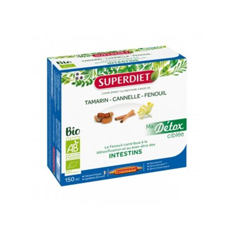 Ma Détox Ciblée Fenouil Intestins Bio - 10 ampoules x 15 ml - LABORATOIRES SUPERDIET