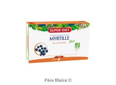 Myrtille BIO - 20 ampoules x 15 ml - LABORATOIRES SUPERDIET