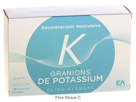 Granions de potassium - 30 amp - LABORATOIRES DES GRANIONS