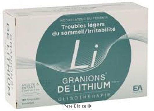 Granions de Lithium - 30 amp - LABORATOIRES DES GRANIONS