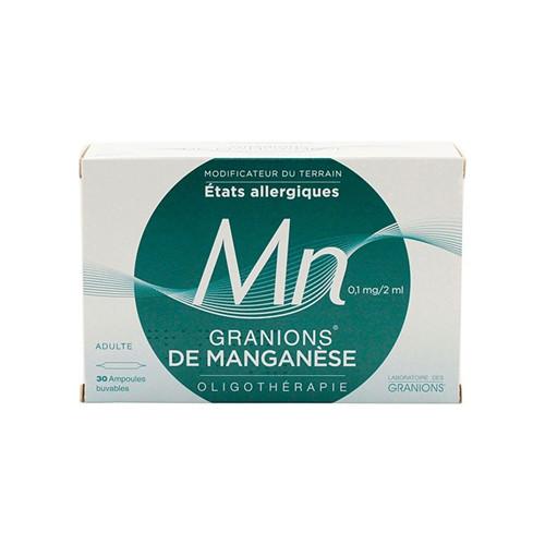 Granions de manganese - 30 amp - LABORATOIRES DES GRANIONS