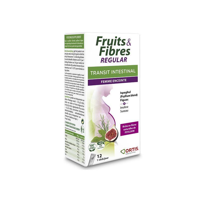 FRUITS & FIBRES regular (femmes enceintes) - 12 sticks - ORTIS