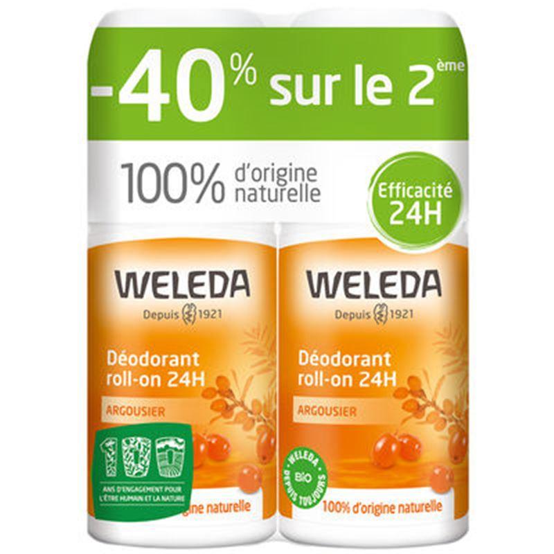 Déodorant Roll-on 24h DUO - Argousier - 2 x50 ml - WELEDA