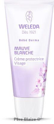 Crème protectrice bébé visage à la mauve blanche - 50 ml - WELEDA