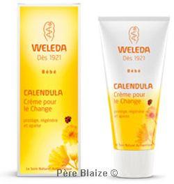 Crème pour le change calendula bébé - 75 ml - WELEDA