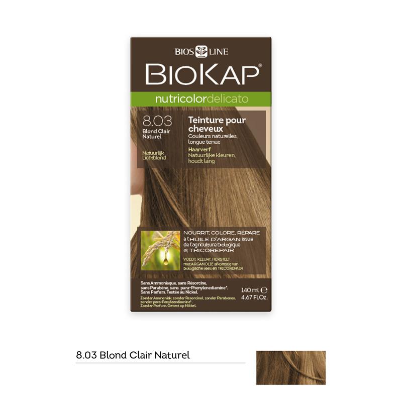 Nutricolor delicato - blond clair naturel 8.03 - 140 ml - BIOKAP