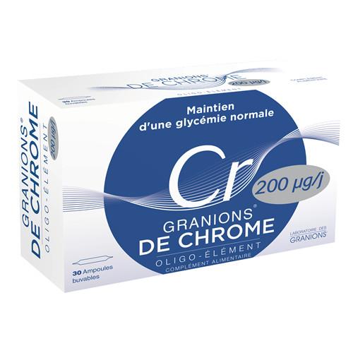 Granions de chrome 200µg - 30 amp - LABORATOIRES DES GRANIONS