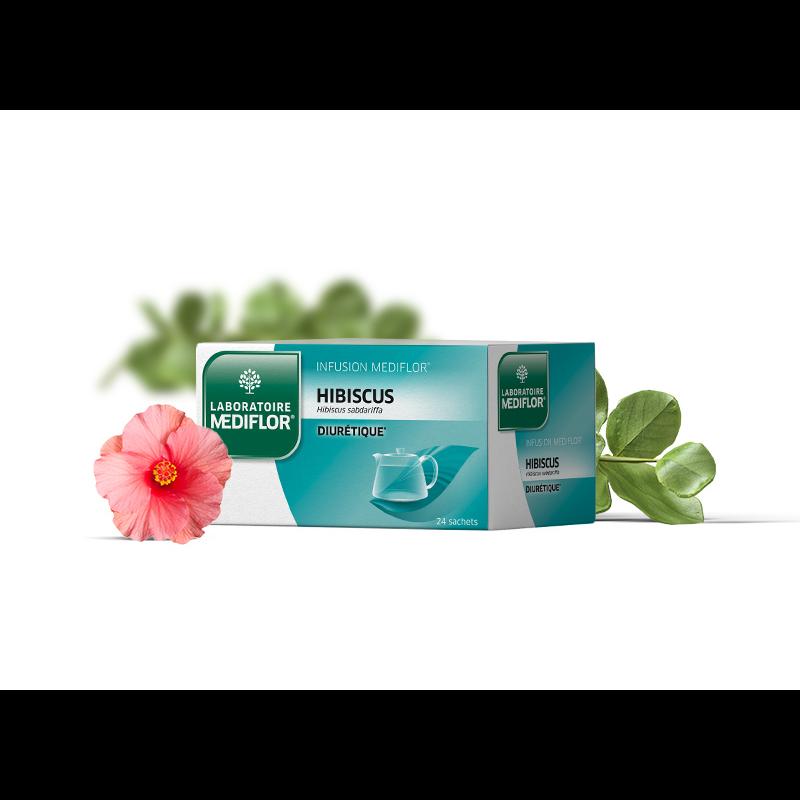 Infusion hibiscus - 24 sachets - LABORATOIRE MEDIFLOR