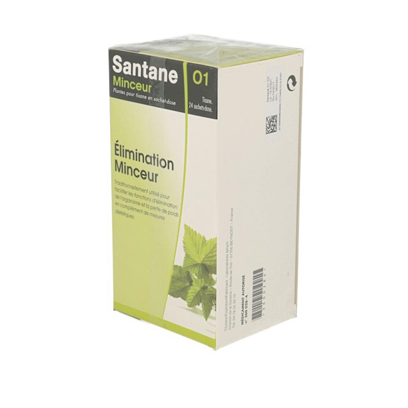 Tisane minceur - 24 sachets (1,5 g / sd) - SANTANE - IPHYM